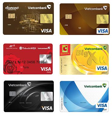 các loại thẻ Visa Vietcombank