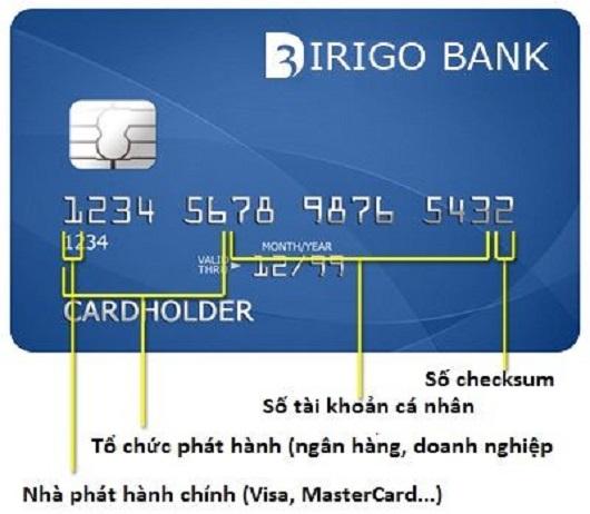 các con số trên thẻ tín dụng